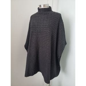 Divided H&M Charcoal Gray Knit Poncho